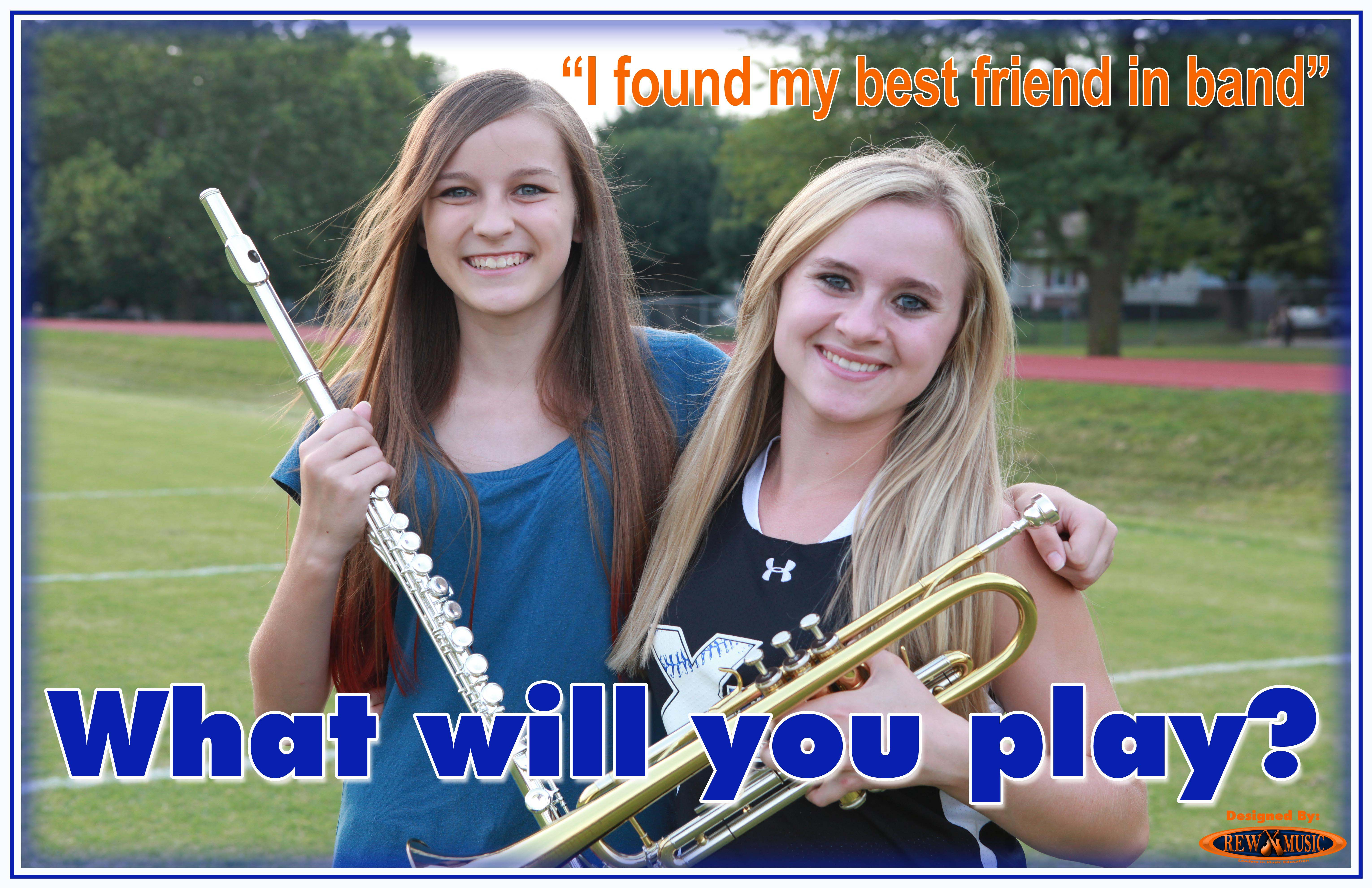 Join the School Band Girls What Will You Play?