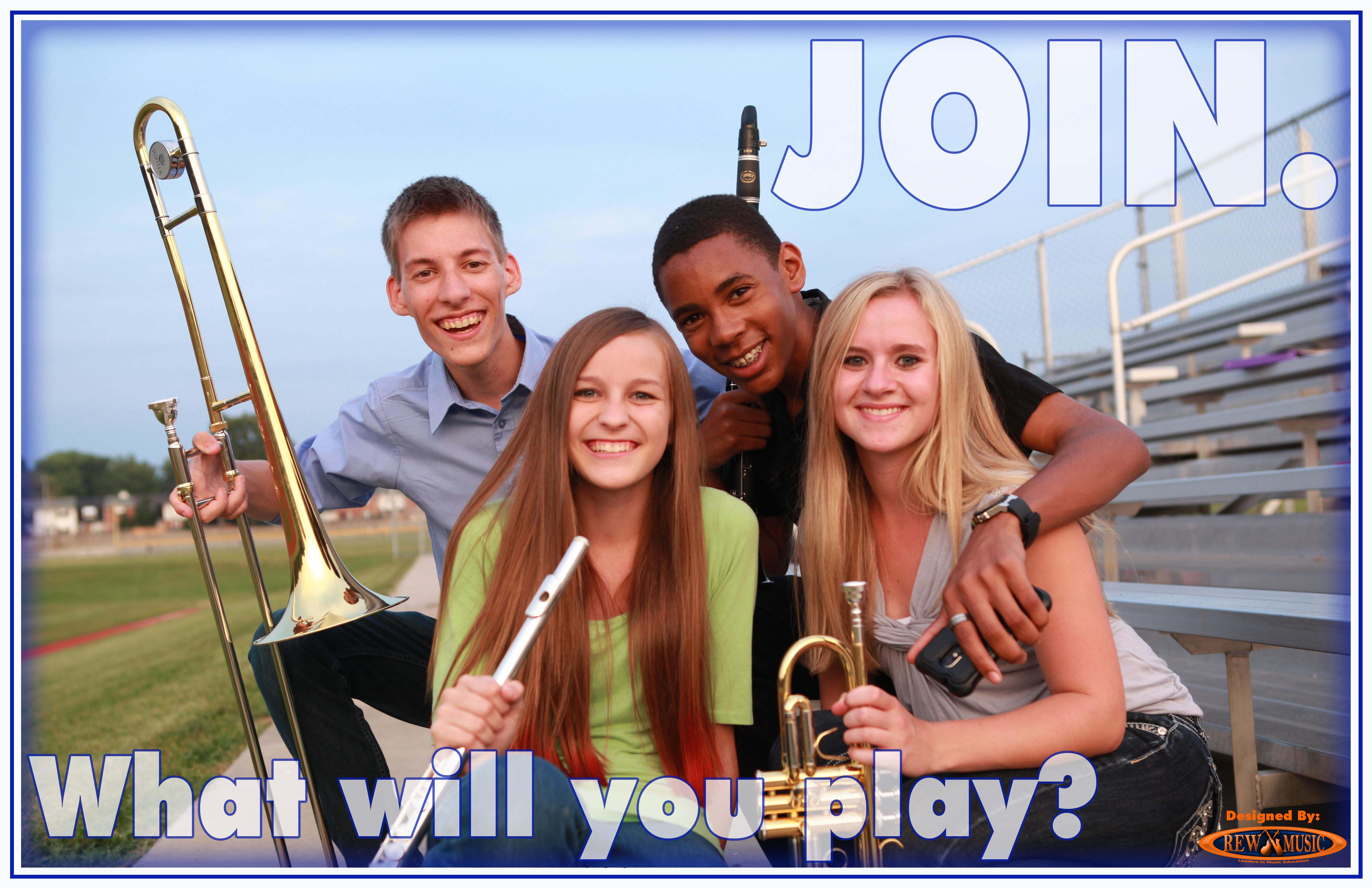 Join the School Band Group What Will You Play?