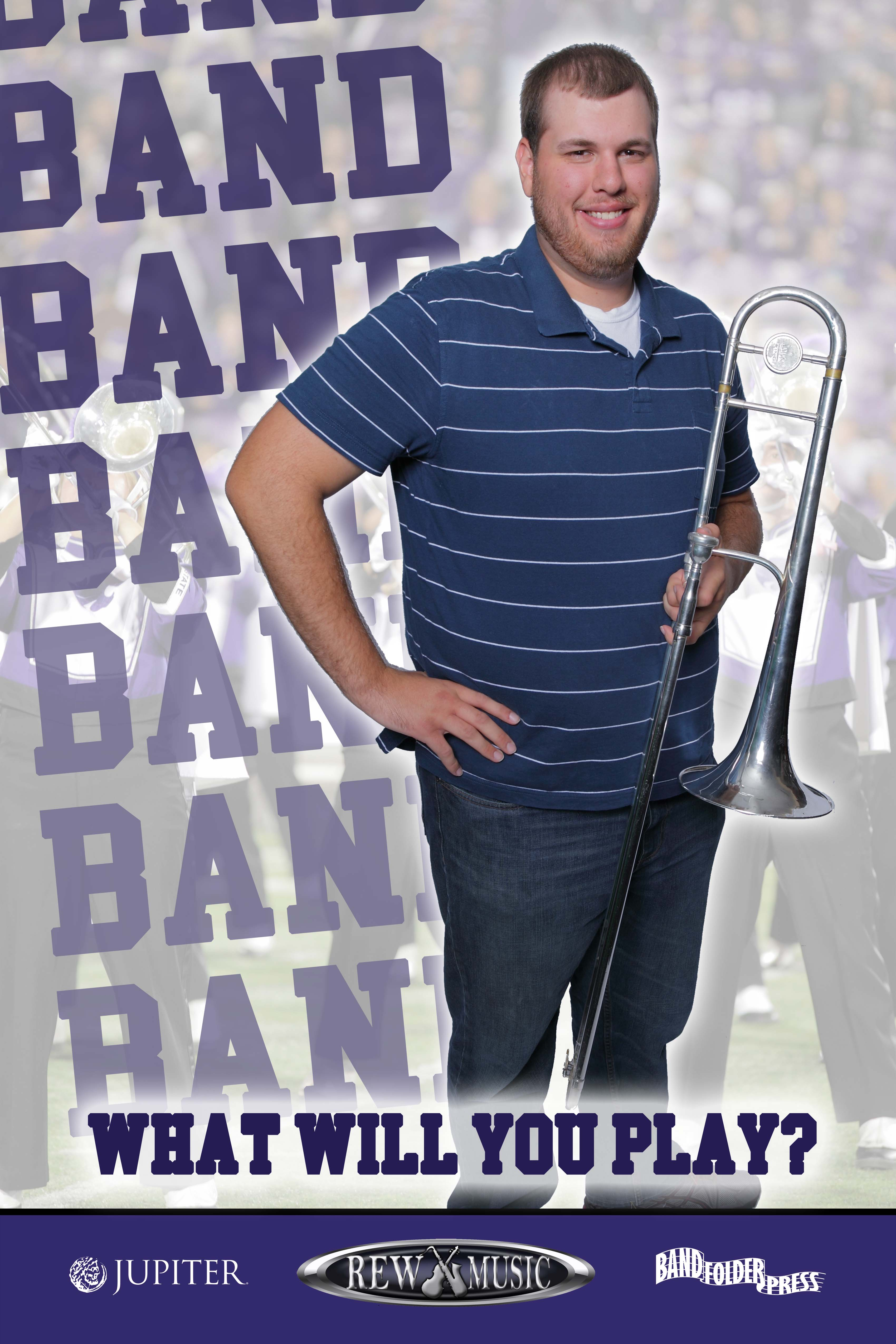 Join the School Band Trombone player